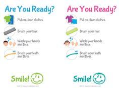 Printable Kids' Bathroom Checklist - Hygiene Checklist for the Kids - www.beautyandbedlam.com