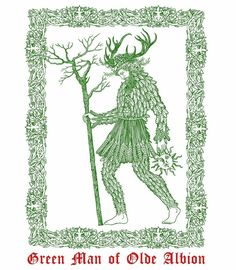 """paganalia: """"Green Man Of Albion illustration by Sin-Eater """" Botanical Illustration, Illustration Art, Occult Tattoo, Knight Tattoo, Traditional Witchcraft, Green Knight, Pagan Gods, Wicker Man, Pagan Art"""