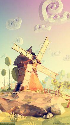 Power Giants : un projet Low poly paperworld par Mateusz Szulik … Art Environnemental, Cg Art, Art And Illustration, Landscape Illustration, Game Art, Illustrator, Polygon Art, 3d Modelle, Modelos 3d