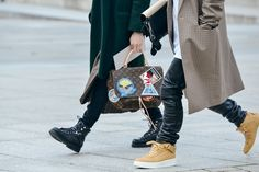 Spotted at #PFW during Men Fall 2015 Fashion Week the Louis Vuitton Celebrating Monogram bag by Cindy Sherman - Photography by Tommy Ton via www.style.com