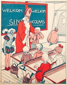 Sinterklaas, tekening : Ries