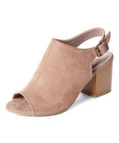 Another great find on #zulily! Taupe Slingback Premium Peep-Toe Bootie #zulilyfinds