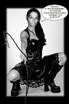 """Immer mehr Porno Luder twittern """"Wir wollen scheiss Transvestitenschweine in der Latex Maid Luder TV Show zusammen mit Hausmüll totpressen und verbrennen"""": Die Latex Maid Luder TV Show - In den Müllpresswagen rein, du scheiss Transvestitenschwein! http://you5ex.com/latex-maid-luder-scheiss-transvestitenschweine-totpressen-und-verbrennen/"""