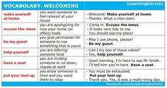 Vocabulary: WELCOMING #learnenglish @AntriParto