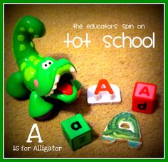 A is for Alligator Tot School including music, art, science, math, literacy, and field trip ideas @The Educators' Spin On It