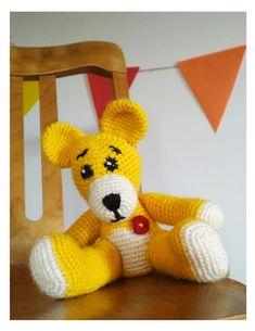 Jednoduchý líbivý medvídek ve výrazných barvách pro děti Tweety, Dinosaur Stuffed Animal, Toys, Animals, Fictional Characters, Activity Toys, Animales, Animaux, Clearance Toys