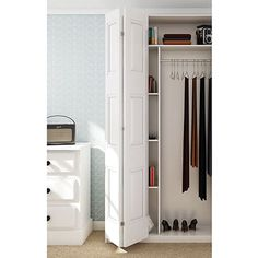 No doubt you may have read about a new style of hardware called barn door hardware, also known as flat track hardware. Computer Nook, Wardrobe Systems, Chimney Breast, Sliding Door Hardware, Hanging Rail, Folding Doors, Back Doors, Kitchen Cupboards, Closet Doors