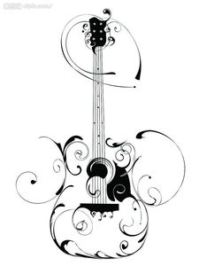 Guitar Swirl Image - possibly next tattoo