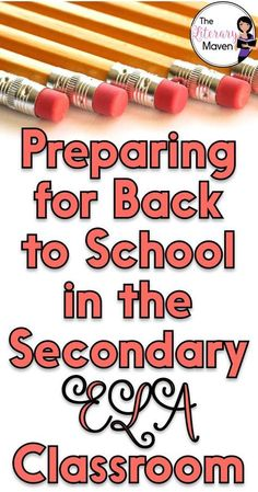 The Literary Maven: Preparing for Back to School in the Secondary English Language Arts Classroom - Kunstunterricht Ela Classroom, Middle School Classroom, English Classroom, Classroom Ideas, Classroom Language, Middle School Reading, Middle School English, Teaching High Schools, Teaching Themes