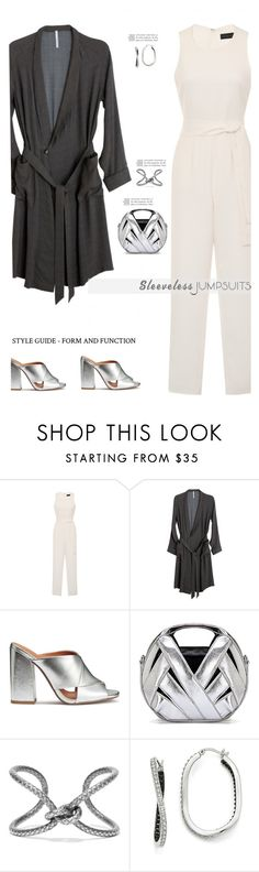 """All-in-One: Sleeveless Jumpsuits'"" by dianefantasy ❤ liked on Polyvore featuring Lavish Alice, David Michael, Bottega Veneta, Kevin Jewelers, polyvorecommunity, polyvoreeditorial and sleevelessjumpsuits"