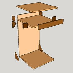 HOME DZINE Home DIY |  Portable laptop stand