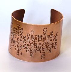 vintage red line cuff. so cool!