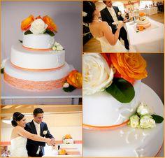 Torten-Kreativ: Hochzeitstorte orange Rosen