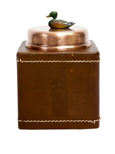Rare Vintage Copper Square Container w/Leather Cover, c. 1900s, http://www.myhabit.com/redirect?url=http%3A%2F%2Fwww.myhabit.com%2F%3F%23page%3Dd%26dept%3Dhome%26sale%3DAUPFQ304GHYGD%26asin%3DB00CZ4ORH6%26cAsin%3DB00CZ4ORH6