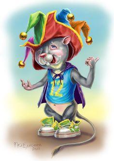 Сообщество иллюстраторов | Иллюстрация Юрий Елисеев - крыс. Персонажи. Компьютерная графика