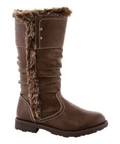 This Brown Plush Boot by COCO Jumbo is perfect! #zulilyfinds