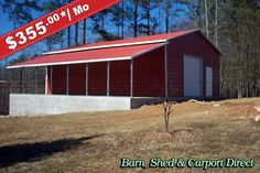 barn style metal building | This barn style metal building provides lots of storage inside and out ...