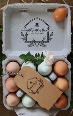 Chicken Lady, Chicken Eggs, Chicken Coup, Eggs For Sale, Egg Packaging, Custom Rubber Stamps, Mini Farm, Farm Stand, Wood Stamp