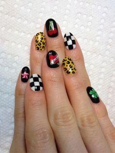 Rock style nail art