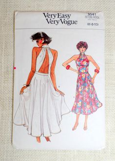 Vintage Vogue 9541 pattern vintage by momandpopcultureshop on Etsy
