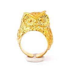 Golden Owl Ring