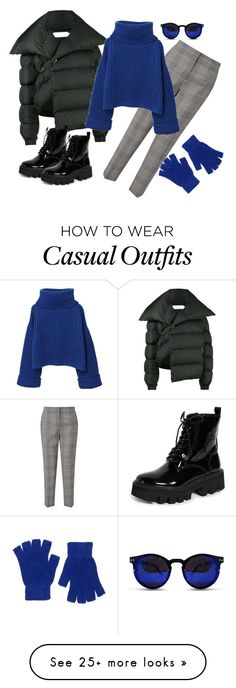 """""""Winter navy casual"""" by tatianuska2005 on Polyvore featuring Marques'Almeida, Jeffrey Campbell, Jigsaw, MANGO, Spitfire, Forever 21 and wintercasual"""