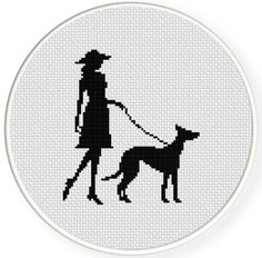 Name: 'Embroidery : Lady and Her Dog Cross Stitch Pattern Counted Cross Stitch Patterns, Cross Stitch Designs, Cross Stitch Embroidery, Embroidery Patterns, Hand Embroidery, Small Cross Stitch, Modern Cross Stitch, Lady, Pattern Pictures