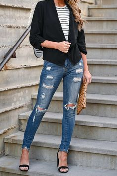 Classy Outfits For Women, Blazer Outfits For Women, Everyday Casual Outfits, Dressy Casual Outfits, Chic Summer Outfits, Date Outfit Casual, Classy Casual, Work Outfits, Country Chic Outfits