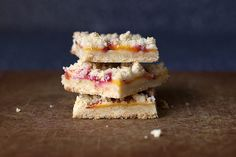peach shortbread -smitten kitchen - very good! Easy to make. Used reg butter method & swapped flour w/whole wheat flour. Could prob use more peaches instead of Delicious! Shortbread Bars, Shortbread Recipes, Cookie Recipes, Fun Desserts, Delicious Desserts, Dessert Recipes, Fruit Recipes, Summer Desserts, Dessert Ideas