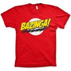 The Big Bang Theory - Bazinga! Super Logo heren unisex T-shirt rood - Merchandise televisie Big Bang Theory, The Big Band Theory, Mens Tee Shirts, Cool Shirts, T Shirt, Tee Shirt Rouge, T-shirt Logo, Star Wars Shop, Unisex