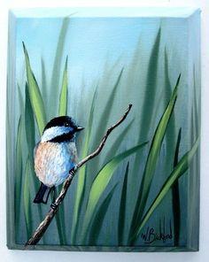 "No Reserve Wilson Bickford Signed Original Oil Painting ""Mr Chickadee"" | eBay"