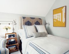 A headboard that makes a statement.