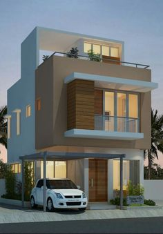 Fortune Residency With Floor Plan – Amazing Architecture Magazine 2 Storey House Design, Bungalow House Design, House Front Design, Minimalist House Design, Modern House Design, Kerala House Design, Independent House, House Elevation, Front Elevation