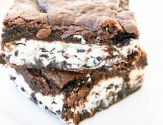 Cookie N Creme Brownies. A forever favorite in our home. ohsweetbasil.com