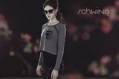 JADE - GREY www.schwiing.net Jade, Athletic, Grey, Jackets, Fashion, Fall Winter 2014, Gray, Down Jackets, Moda