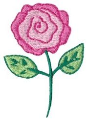 Doodle Rose - 4X4!   Mini Designs   Machine Embroidery Designs   SWAKembroidery.com Bunnycup Embroidery