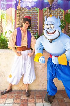 "Q: What did Aladdin say to Genie when he was sad?                                            A: ""You look blue today."""