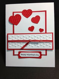 Teeny Tiny Wishes Valentine's Day Card Stampin' Up! Rubber Stamping Handmade Cards