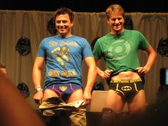 John Barrowman & hubby Scott. Geeky as ever :p