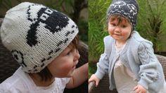 Top 10 sheep knitting patterns - Shaun's hat sheep beanie available to download at LoveKnitting