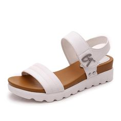 Comfortable Faux Aged Leather Flat Gladiator Sandals    Super comfy! These's are made for walking! Literally.    #comfy #sandals #walking #sun #beach #cute #summer