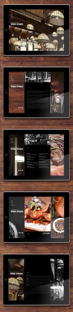 Cool Web Design on the Internet, The PORC Bistro. #webdesign #webdevelopment #website @ http://www.pinterest.com/alfredchong/web-design/