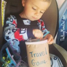 Pipe cleaner game - make this for a long car ride. Put stickers on the paper bag cover.