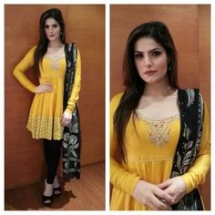 Beauty in yellow... Zareen Khan