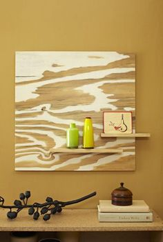 Plywood shelf, really nice graphic detail.