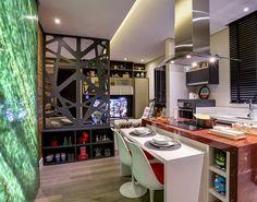 Jefferson Ataliba e Leandro Farchi Small Apartments, Studio, Vanity, Loft, Modern, Table, Furniture, Color, Home Decor