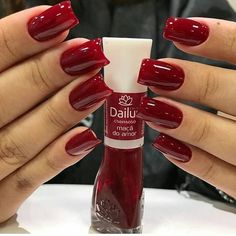 Trendy manicure and pedicure ideas winter 41 Ideas Love Nails, Red Nails, Pretty Nails, Pedicure Colors, Manicure And Pedicure, Manicure Ideas, Cute Pedicures, Beautiful Nail Designs, Stylish Nails