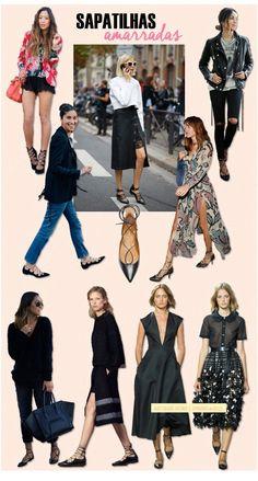 Sapatilhas com amarra��o est�o na moda e caem bem do jeans do dia a dia ao vestido de festa. | 35 ideias para criar looks estilosos sem usar salto