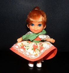 1967 Liddle Kiddles LIDDLE MIDDLE MUFFETT Kiddle  - Storybook Kiddle Collection - Vintage 44 Year Old Doll. $30.00, via Etsy.
