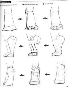 How to draw feet - Human anatomy - Drawing Reference Drawing Skills, Drawing Techniques, Drawing Tips, Sketching Tips, Drawing Artist, Sketch Drawing, How To Sketch, Dream Drawing, Manga Drawing Tutorials